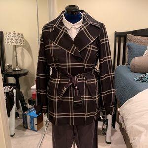 NWT Ralph Lauren Midnight Blue Plaid Raincoat